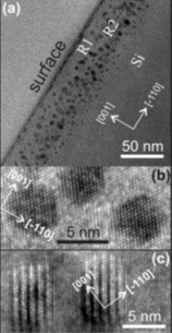 Images obtained by transmission electron microscopy (TEM)